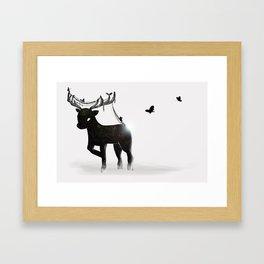 Bb Stag Framed Art Print