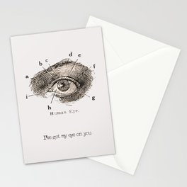 I've got my eye on you vintage illustration Stationery Cards