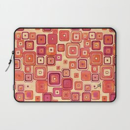 Watercolour Squares Red Amanya Design Laptop Sleeve