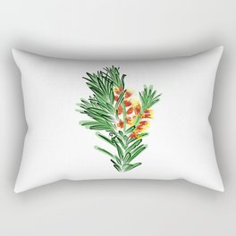 Beautiful Australian Native Bottlebrush Flower Rectangular Pillow