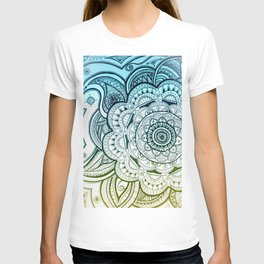 Mandala Blue Yellow T-shirt