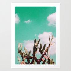 Vintage cactus life Art Print