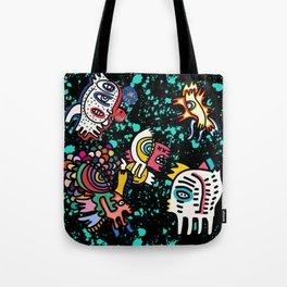 Mostrini in the Space Graffiti Street Art  Tote Bag