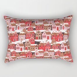 Gingerbread Village Rectangular Pillow
