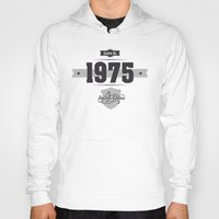 1975 Hoodies featuring Born in 1975 by ipiapacs