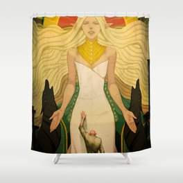 A goddess of his own Shower Curtain