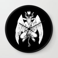 baphomet Wall Clocks featuring baphomet by musa