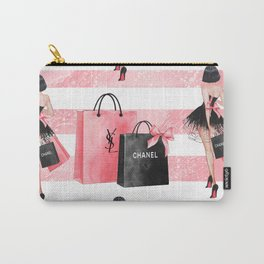 Fashion girl shopping Carry-All Pouch