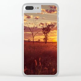 As the Sun Sets in the Heartland Clear iPhone Case