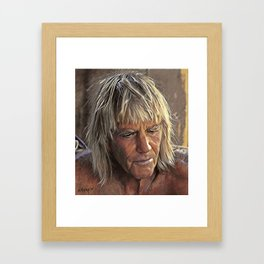 George Greenough Portrait Framed Art Print