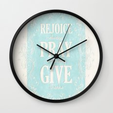 1 Thes. 5:16-18 Wall Clock