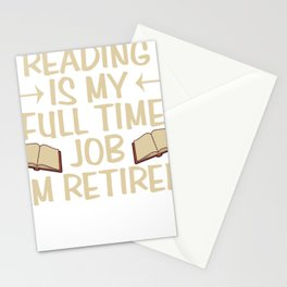 Reading book gift bookworm library books Stationery Cards