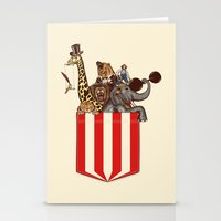 pocket Stationery Cards featuring Pocket Circus by Sachpica