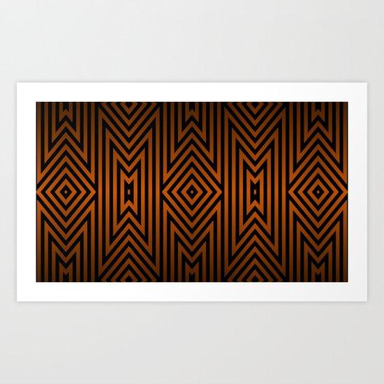 Tiger Tribal Art Print