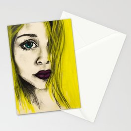the girl Stationery Cards