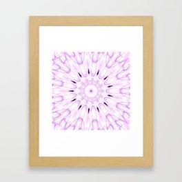 lavender Mandala Explosion Framed Art Print