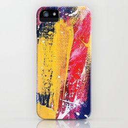 Abstract Brush Strokes iPhone Case