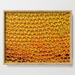 Yellow honey bees comb Serving Tray