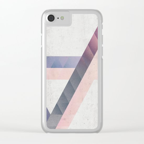 Unespected Geometry Clear iPhone Case