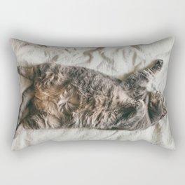 Fat lazy cat Rectangular Pillow