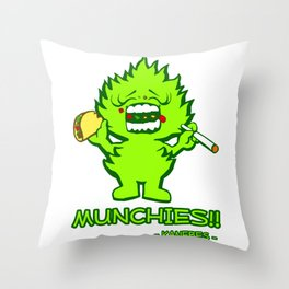 Munchies Throw Pillow