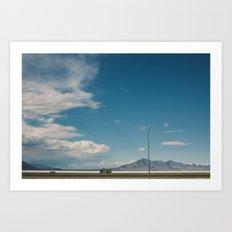 Bonneville Salt Flats Utah USA Art Print