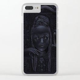 DARK TEMPLE - Du noir naît la lumière Clear iPhone Case