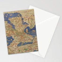 Tabula Rogeriana world map (12th century) Stationery Cards