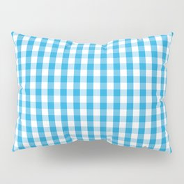 Oktoberfest Bavarian Blue and White Large Gingham Check Pillow Sham