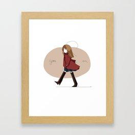 goes on. Framed Art Print