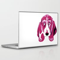 the hound Laptop & iPad Skins featuring Hound Dog by andiroses