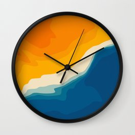 Seascape aerial view Wall Clock