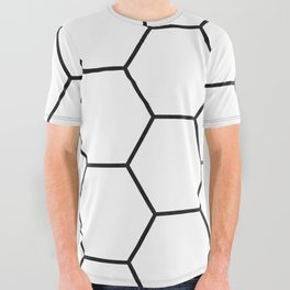 Minimalist Black and White Geometrical Pattern All Over Graphic Tee
