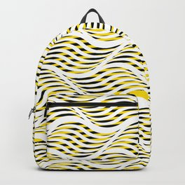 pattern yellow and black Backpack