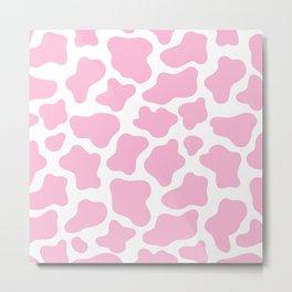 Pink Cow Print Metal Print