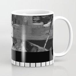 B&W II - Black and white, abstract, contrasting pattern Coffee Mug