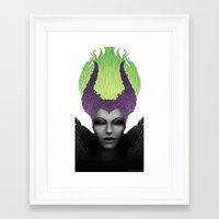 maleficent Framed Art Prints featuring Maleficent by clayscence
