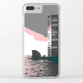 hamburg harbour Clear iPhone Case