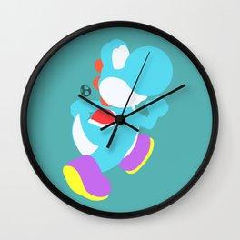 Yoshi(Smash)Cyan Wall Clock