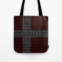 denmark Tote Bags featuring digital Flag (Denmark) by seb mcnulty