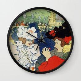 Paris garden Trianon Montmartre concert Wall Clock
