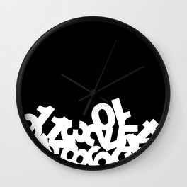 Dead Ants - White on Black Wall Clock