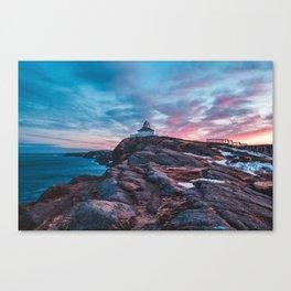 Cape spear sunse Canvas Print