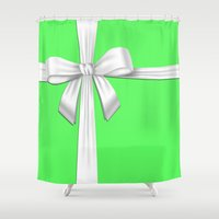 tiffany Shower Curtains featuring TIFFANY BOX by Sophie