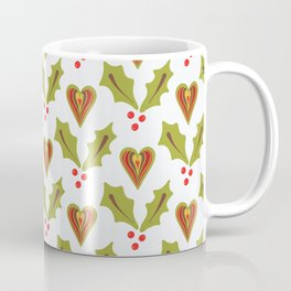 Festive Christmas Holly Coffee Mug