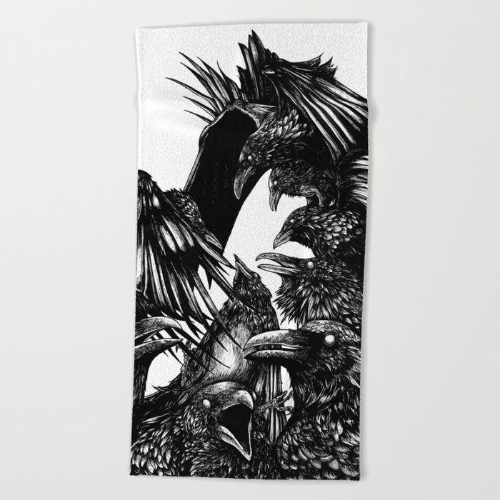 The Riot : Crows Beach Towel