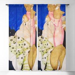 Nights on Broadway, Jazz Age Flapper New York City Art Deco portrait painting by Gerda Wegener Blackout Curtain