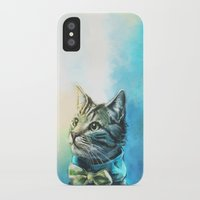 cats iPhone & iPod Cases featuring Handsome Cat by Alice X. Zhang