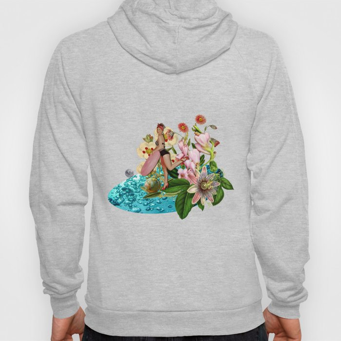 Girl at the Pool #collage Hoody