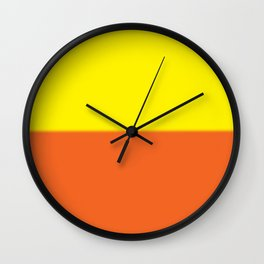 Abstract in orange and yellow Wall Clock